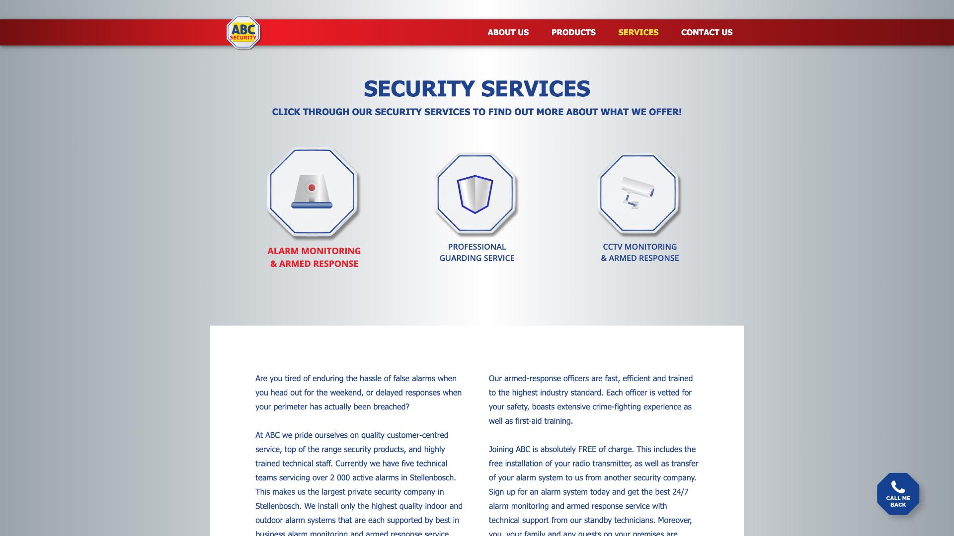 Services Tab Design