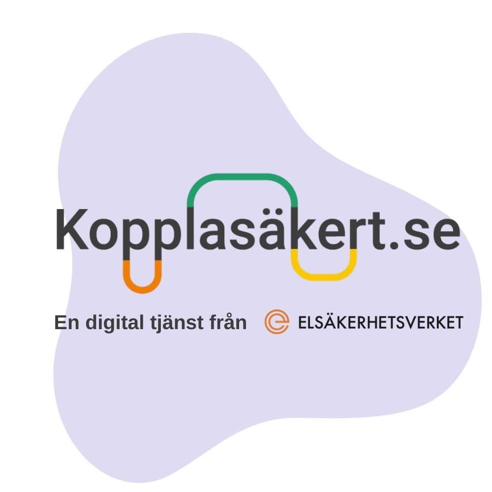 Done i samarbete med Koppla Säkert - en tjänst från Elsäkerhetsverket