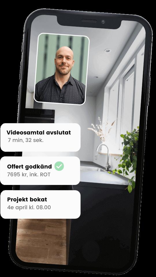 Videosamtal med VVSare från Done
