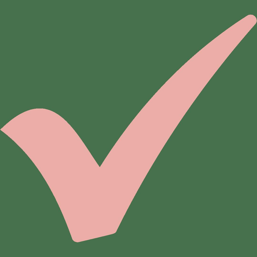 Done och rosa pin check