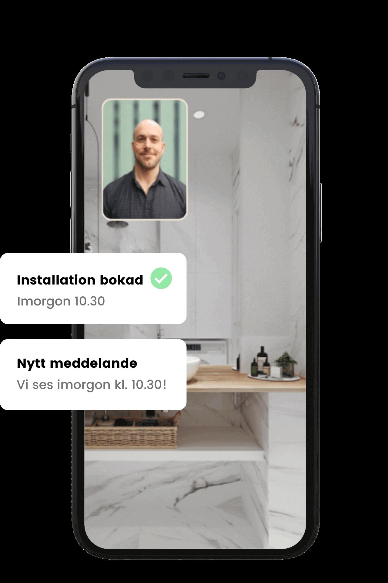 Nu kan du boka installation av din K-Rauta produkt via Done