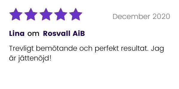 Positivt omdöme av Rosvall AiB