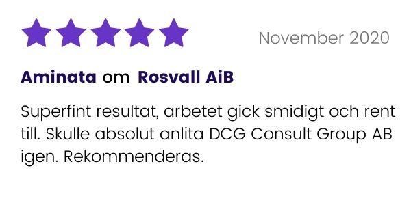 Rosvall AiB får positivt rekommendation av tidigare kund