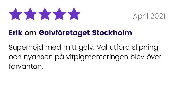 Erik recenserar Golvföretaget Stockholm