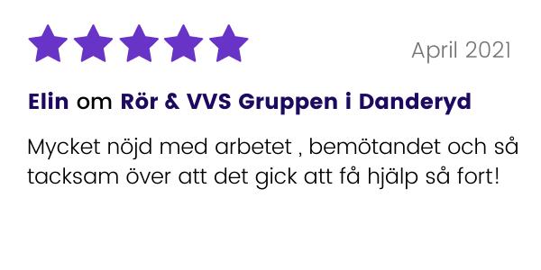 Elin om Rör & VVS Gruppen i Danderyd