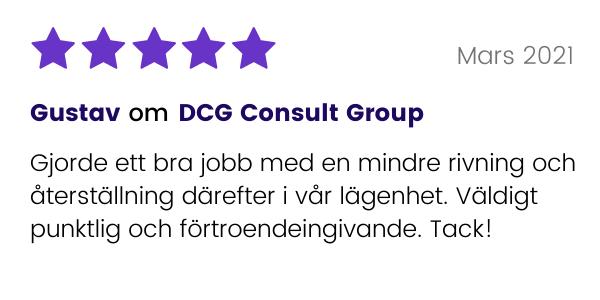 Tidigare kund till DCG Consult Group lämnar omdöme