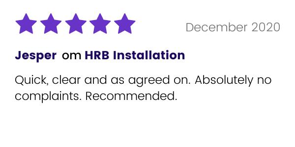 Jesper rekommenderar HRB Installation