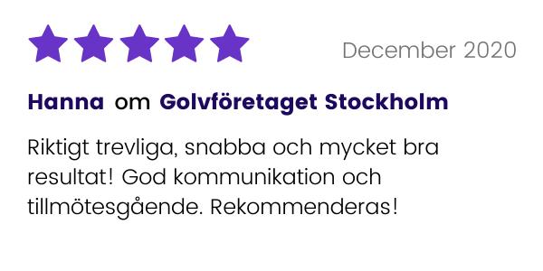 Positivt omdöme till Golvföretaget Stockholm