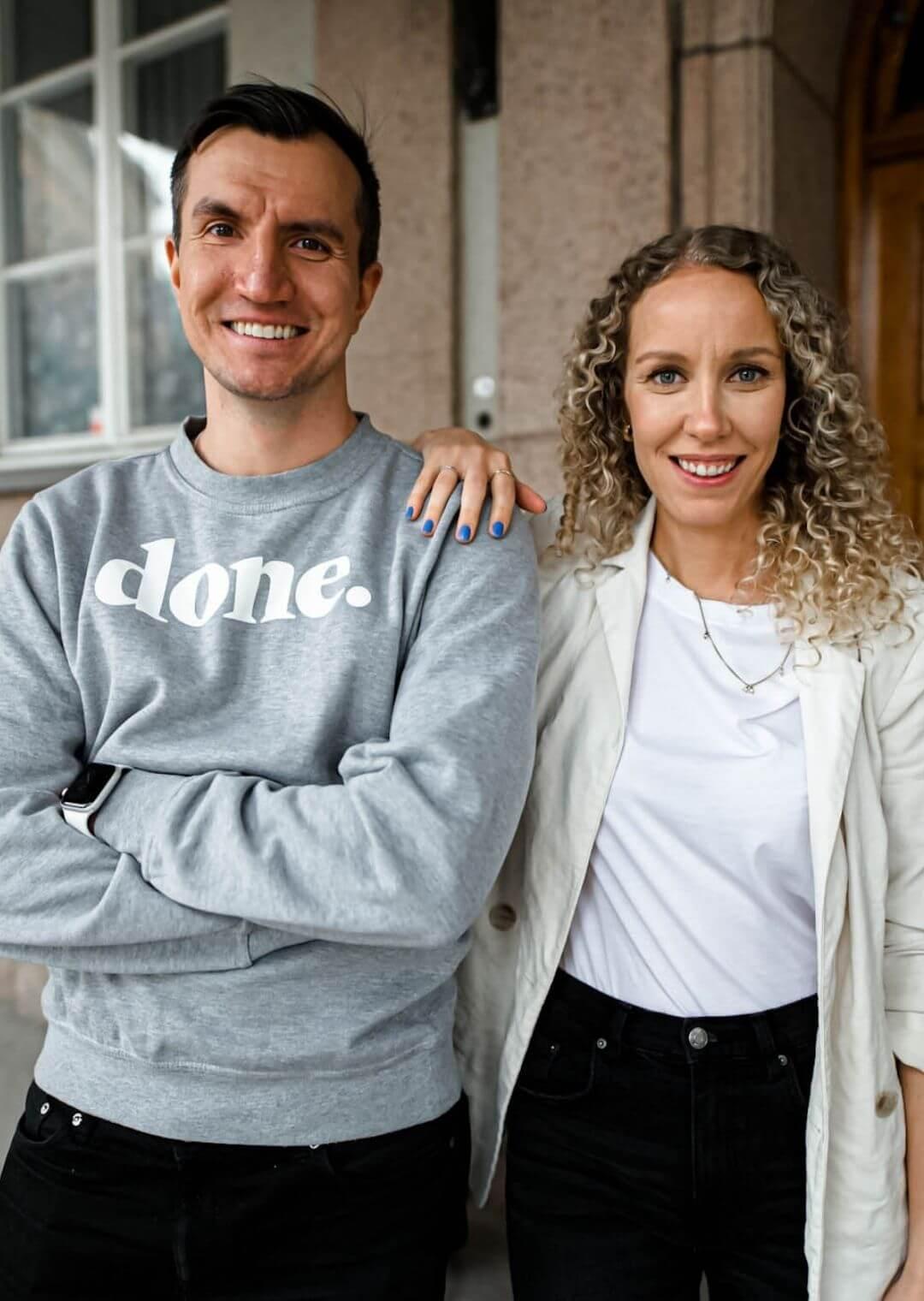 Alek Åström och Malin Granlund, grundare av Done
