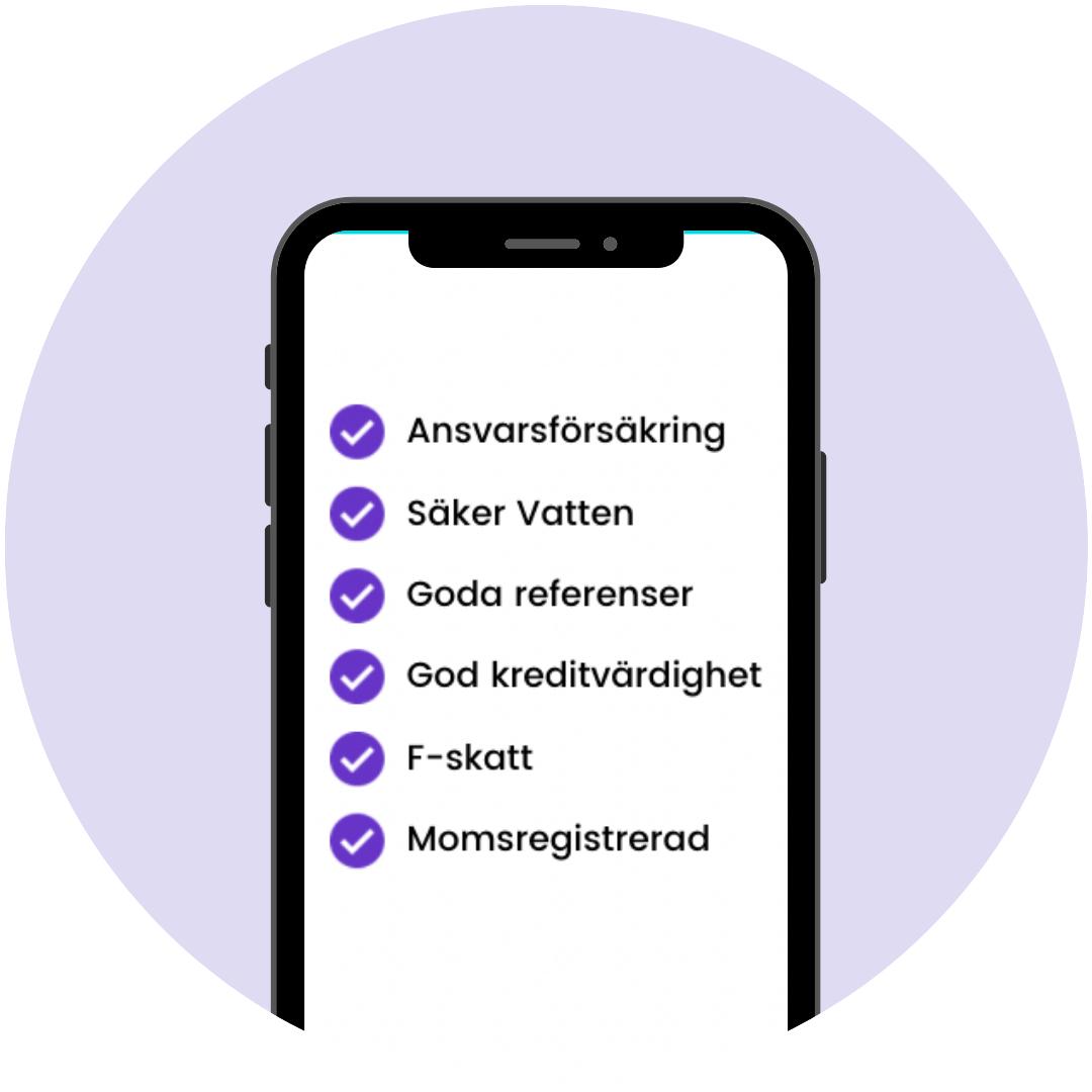 Alla rörläggare i Uppsala i Done-appen är noggrant kvalitetskontrollerade.