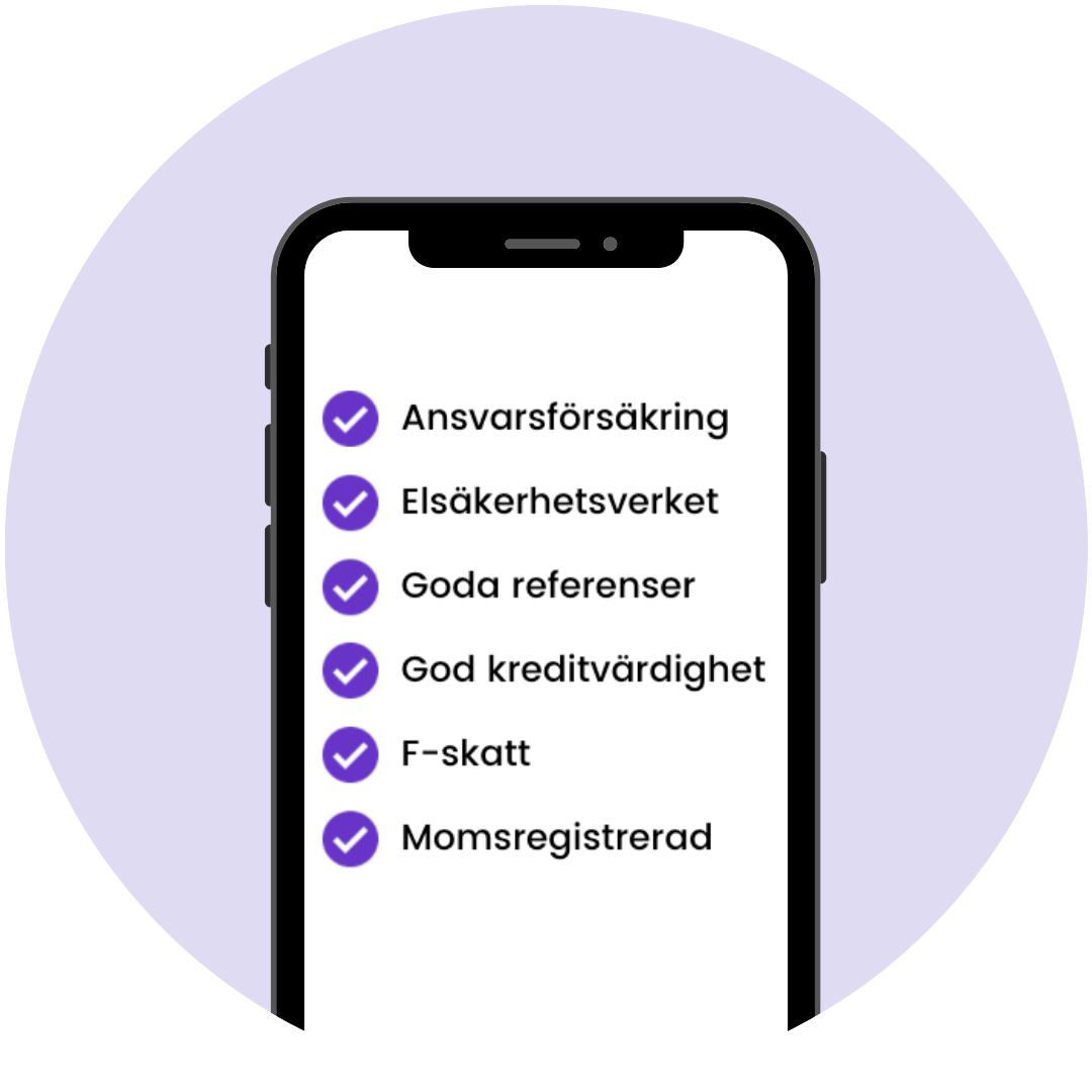 Kvalitetscheckade elfirmor i Uppsala hittar du i Done-appen