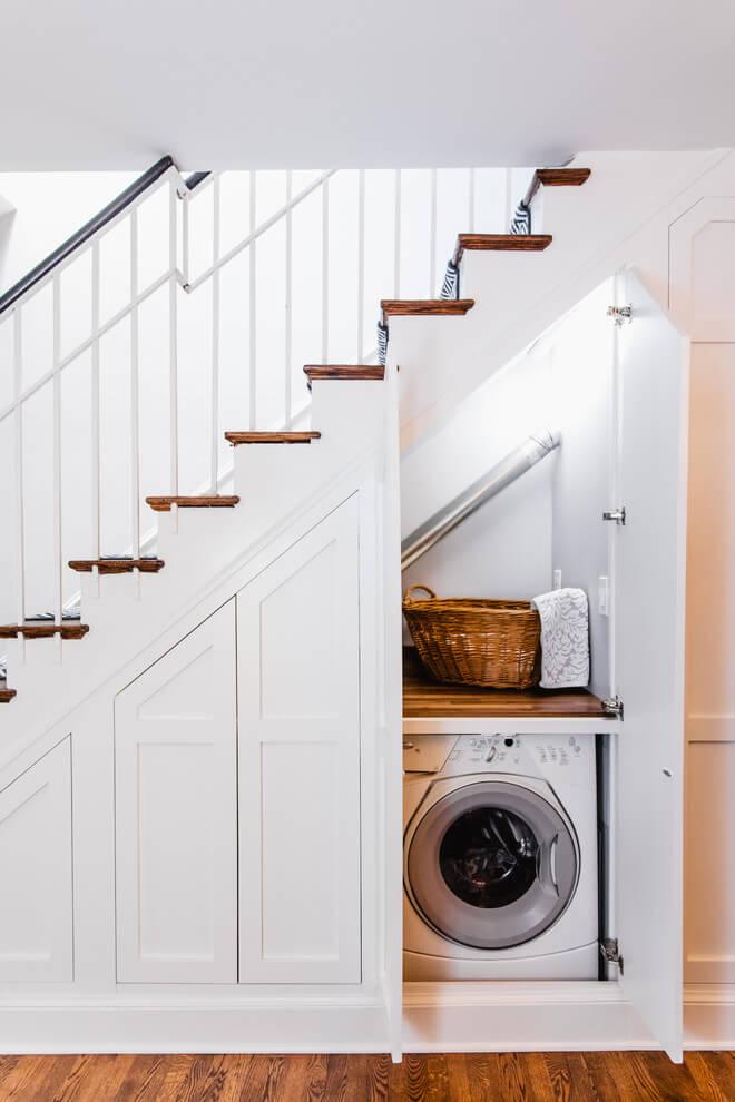 installera tvattmaskin i garderob