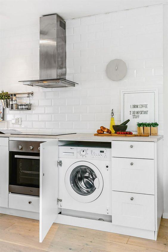 installera tvattmaskin i koket