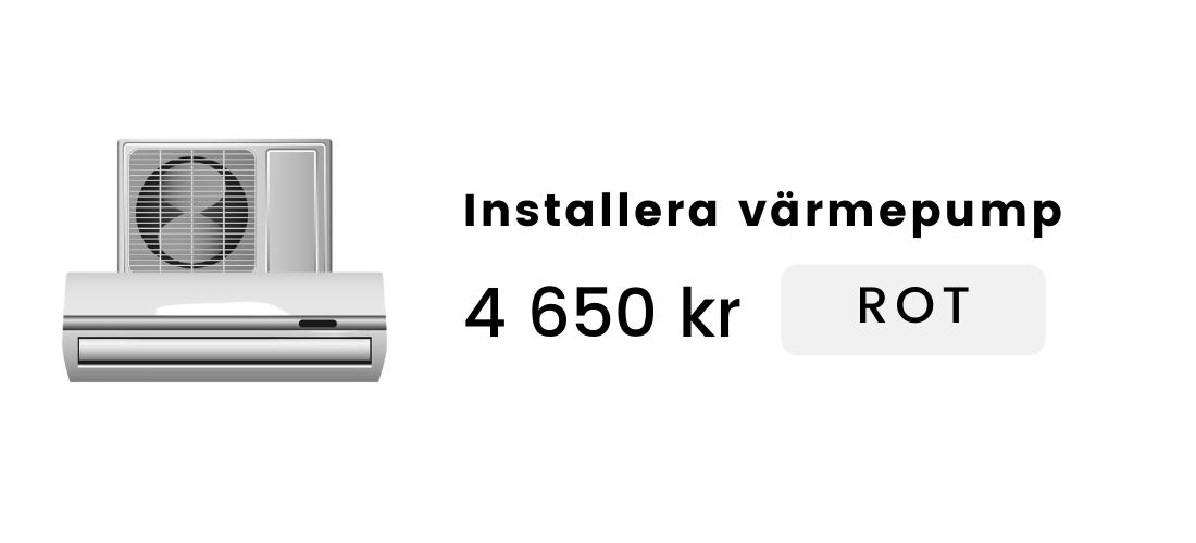 Installera värmepump (luft/luft)