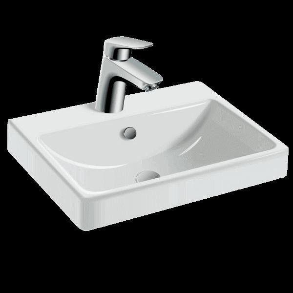 Done installerar tvättställsblandare från K-Rauta