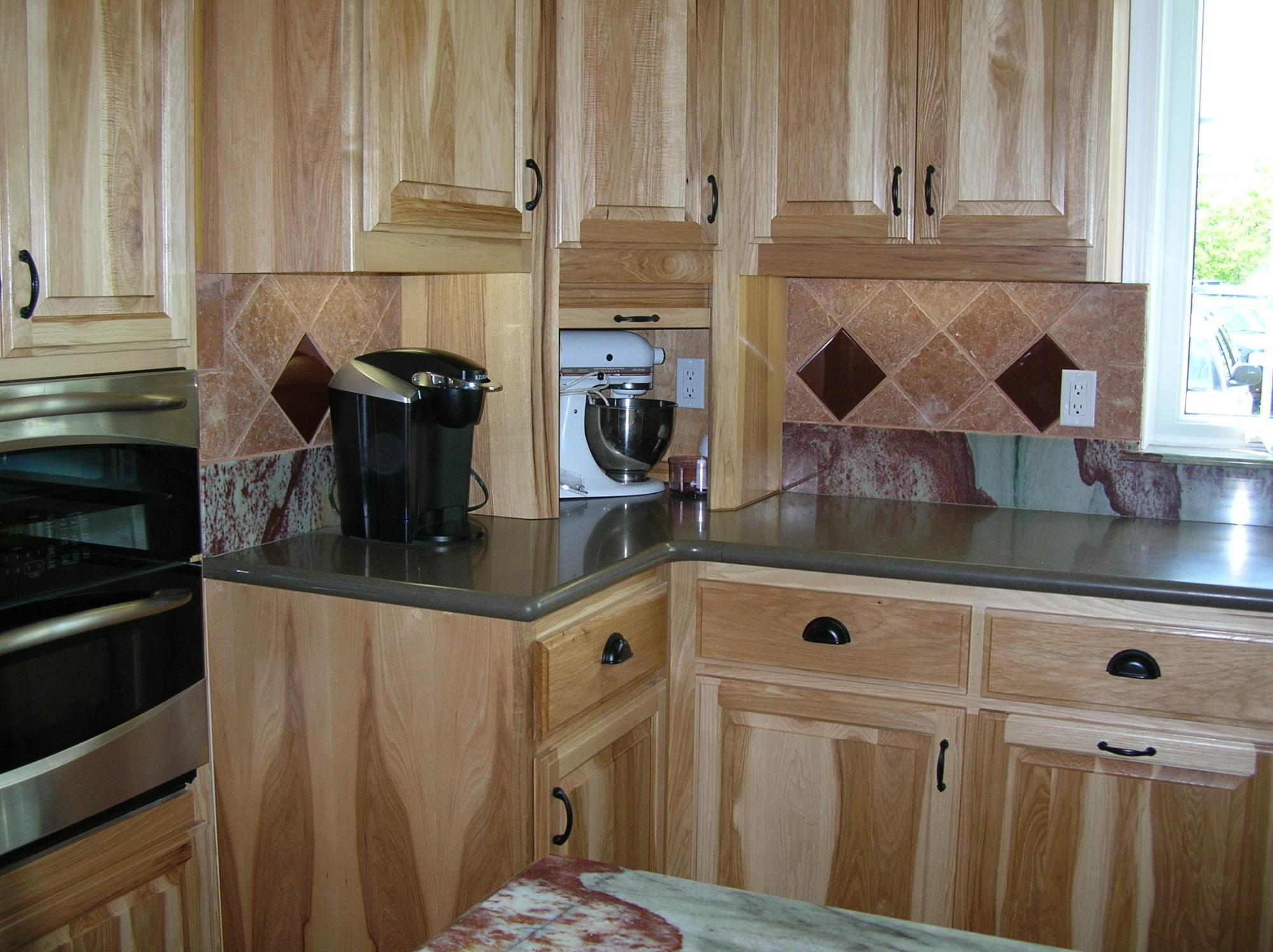 Hickory Kitchen Cabinets with Clear Finish | Blog