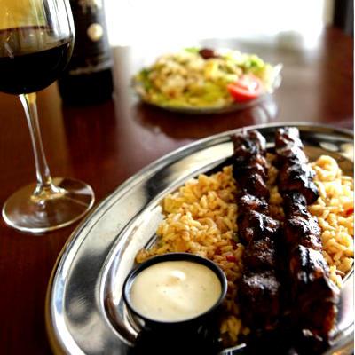Amphora Fine Greek Dining - Greek Souvlaki Dinner