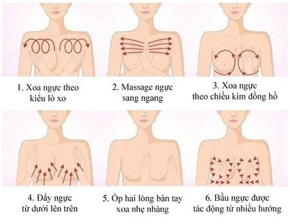 1. Massage tăng vòng 1 với 2 bài massage đơn giản