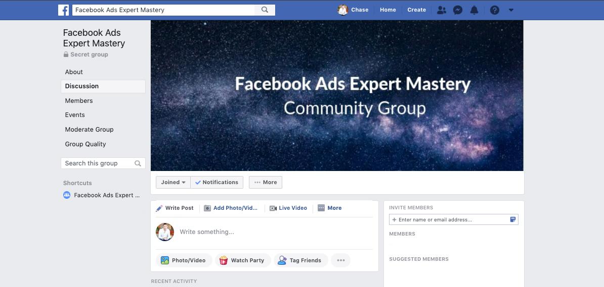 Facebook ads Facebook Group
