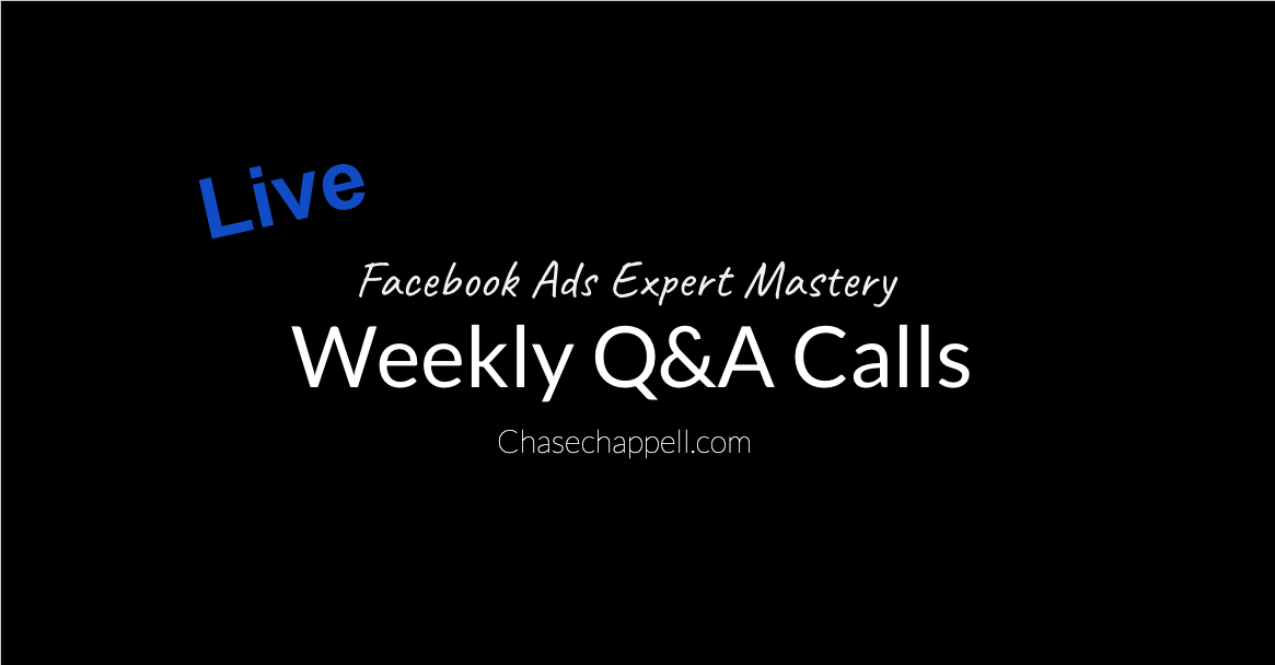 Weekly Facebook Ad Q&A calls