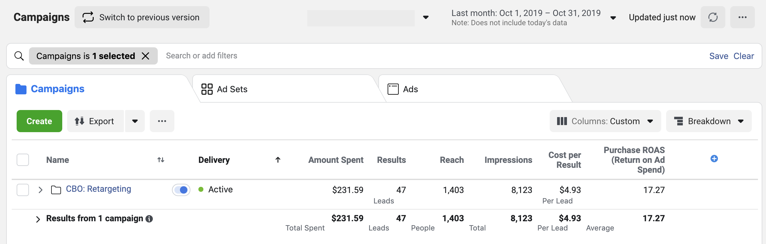 Lead Generation Facebook Ads CBO Strategy