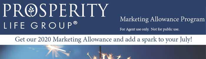 Prosperity Life 2020 Marketing Allowance