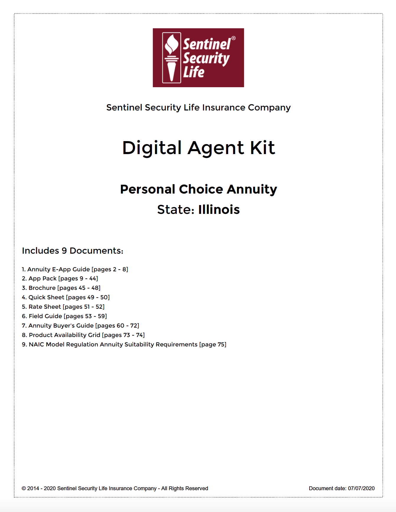 Sentinel Offering Digital Agent Kit, a Starter Pack of Marketing Materials