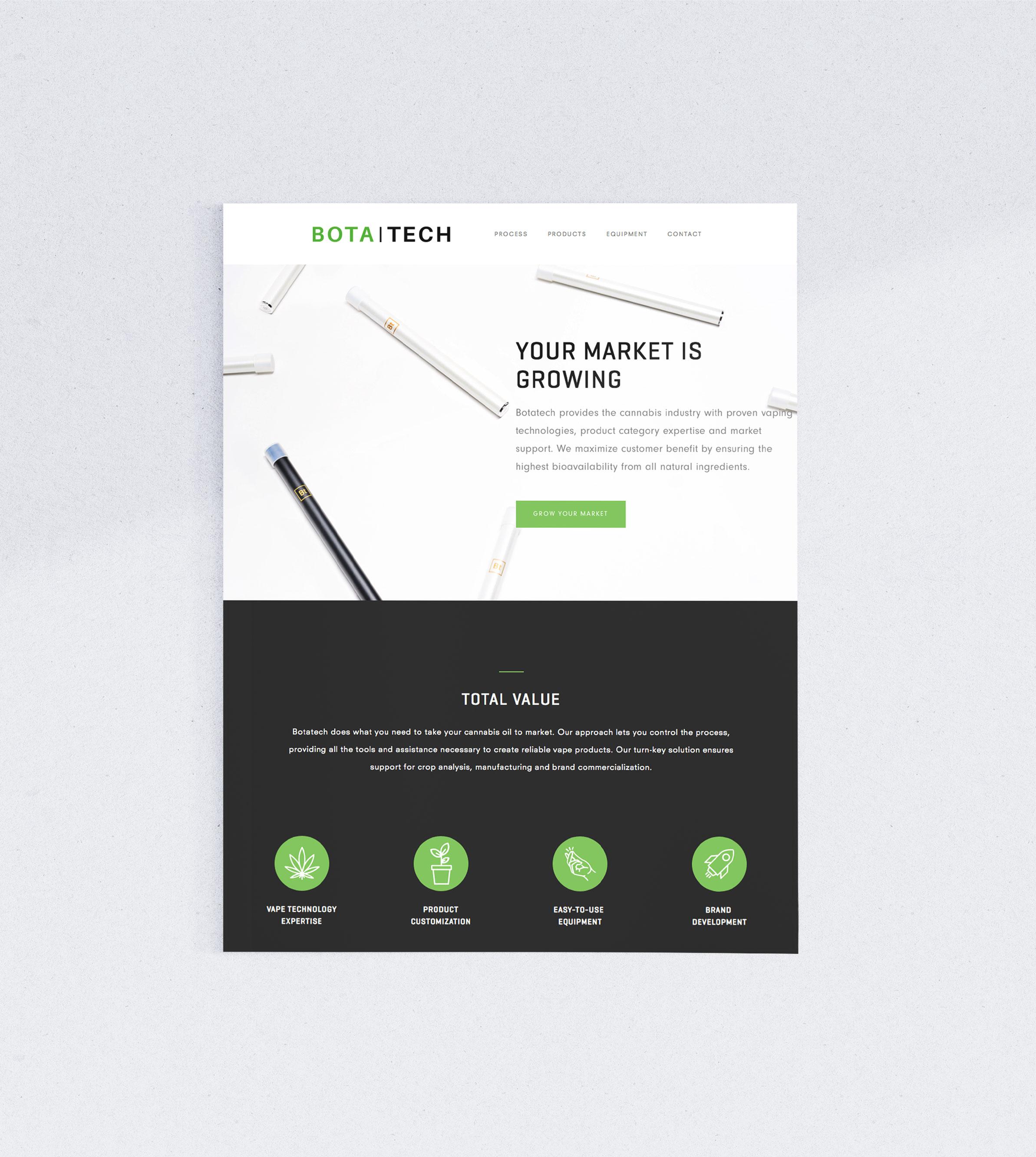 Siblings Creative Design Studio Botatech Homepage