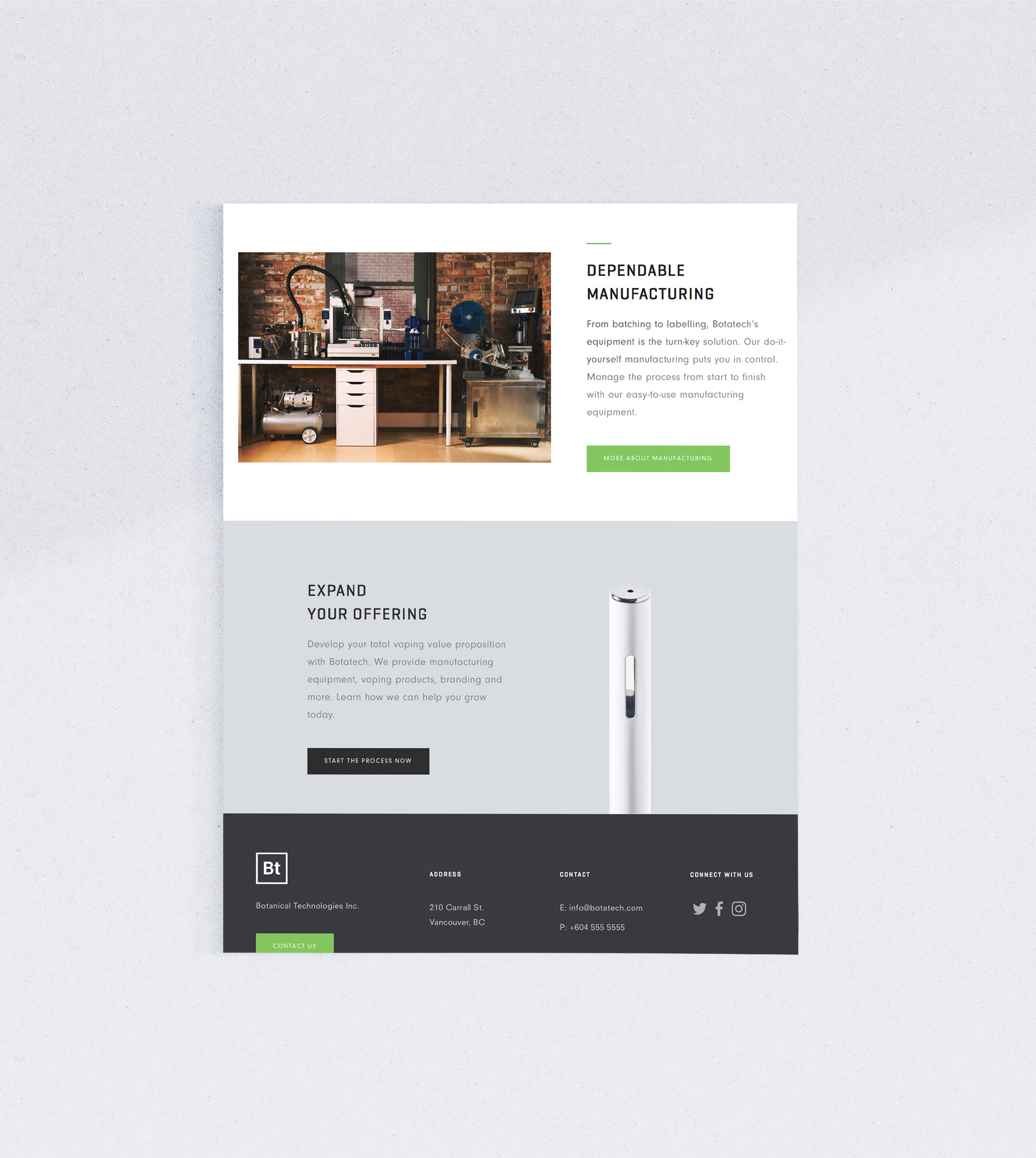 Siblings Creative Design Studio Botatech Homepage Offering