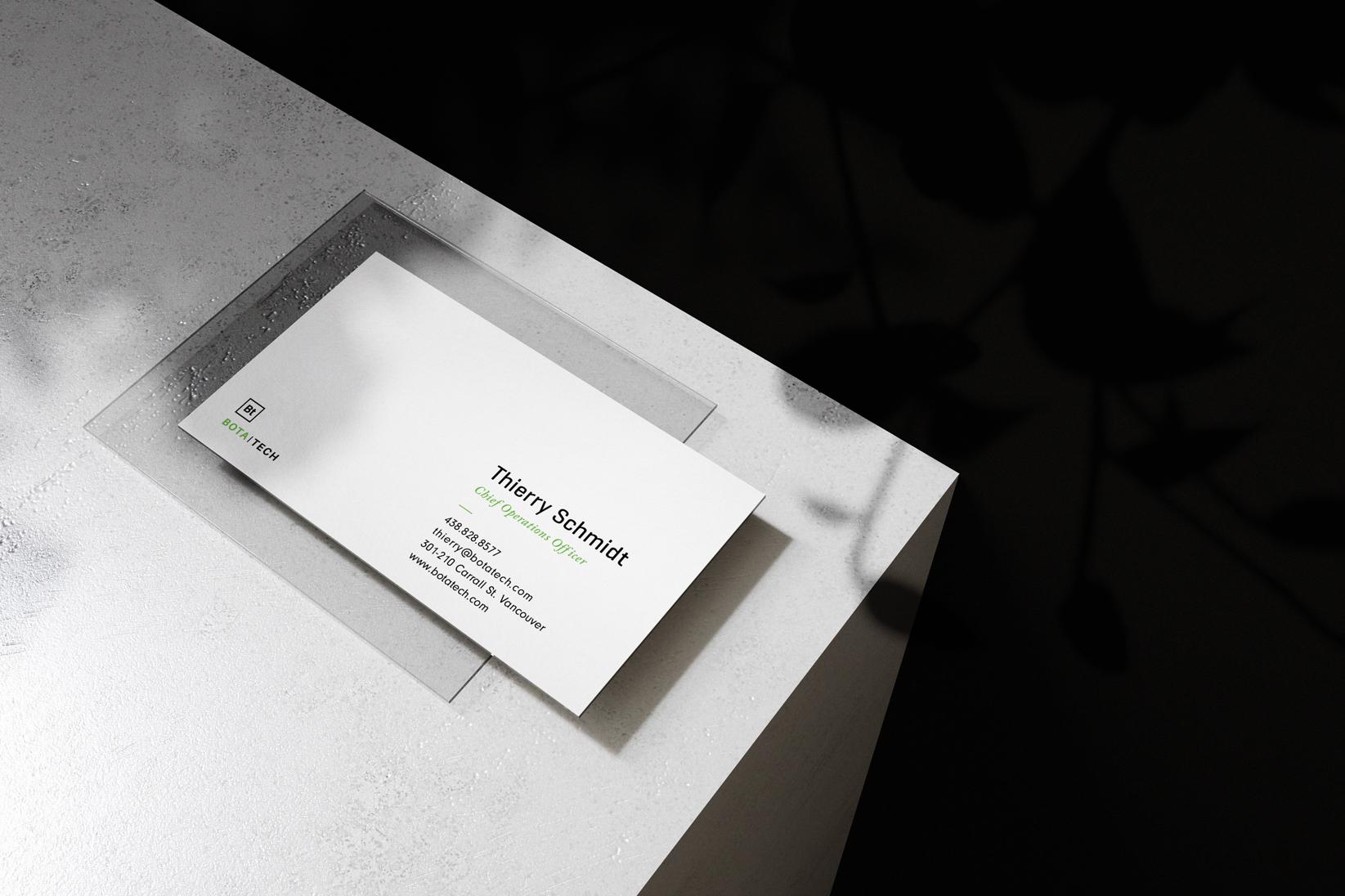 Siblings Creative Design Studio Botatech Business Card Back