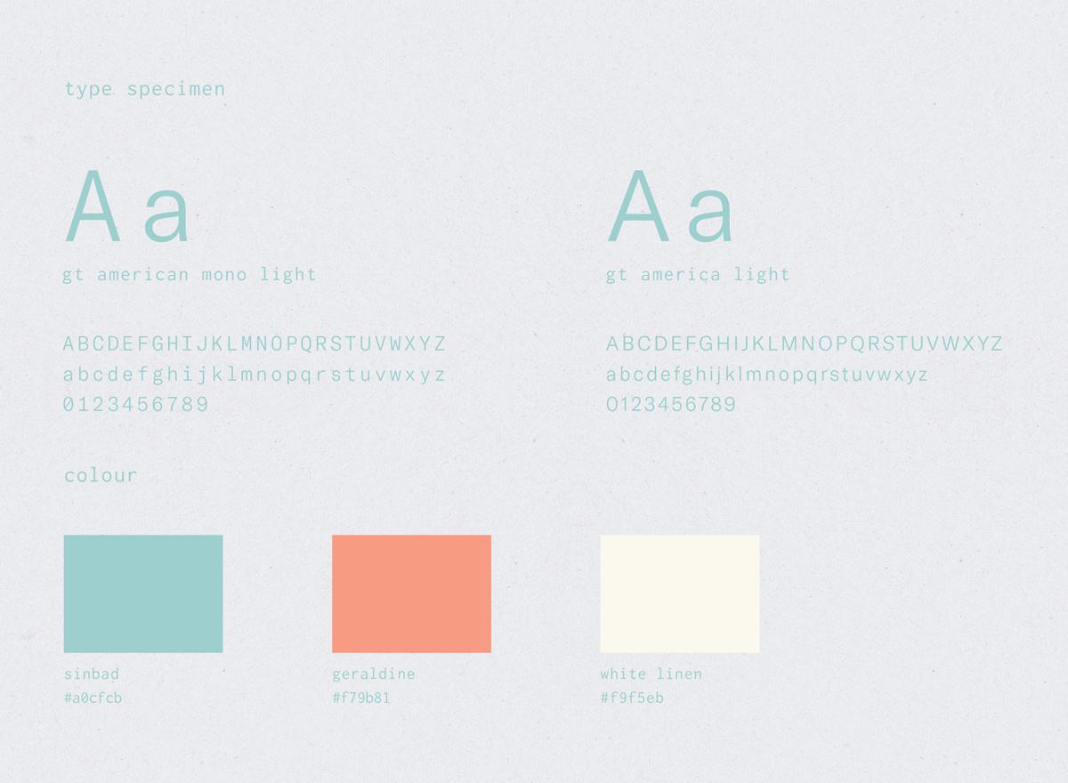 iblings Creative Design Studio Daanaa Typeface & Colour Scheme
