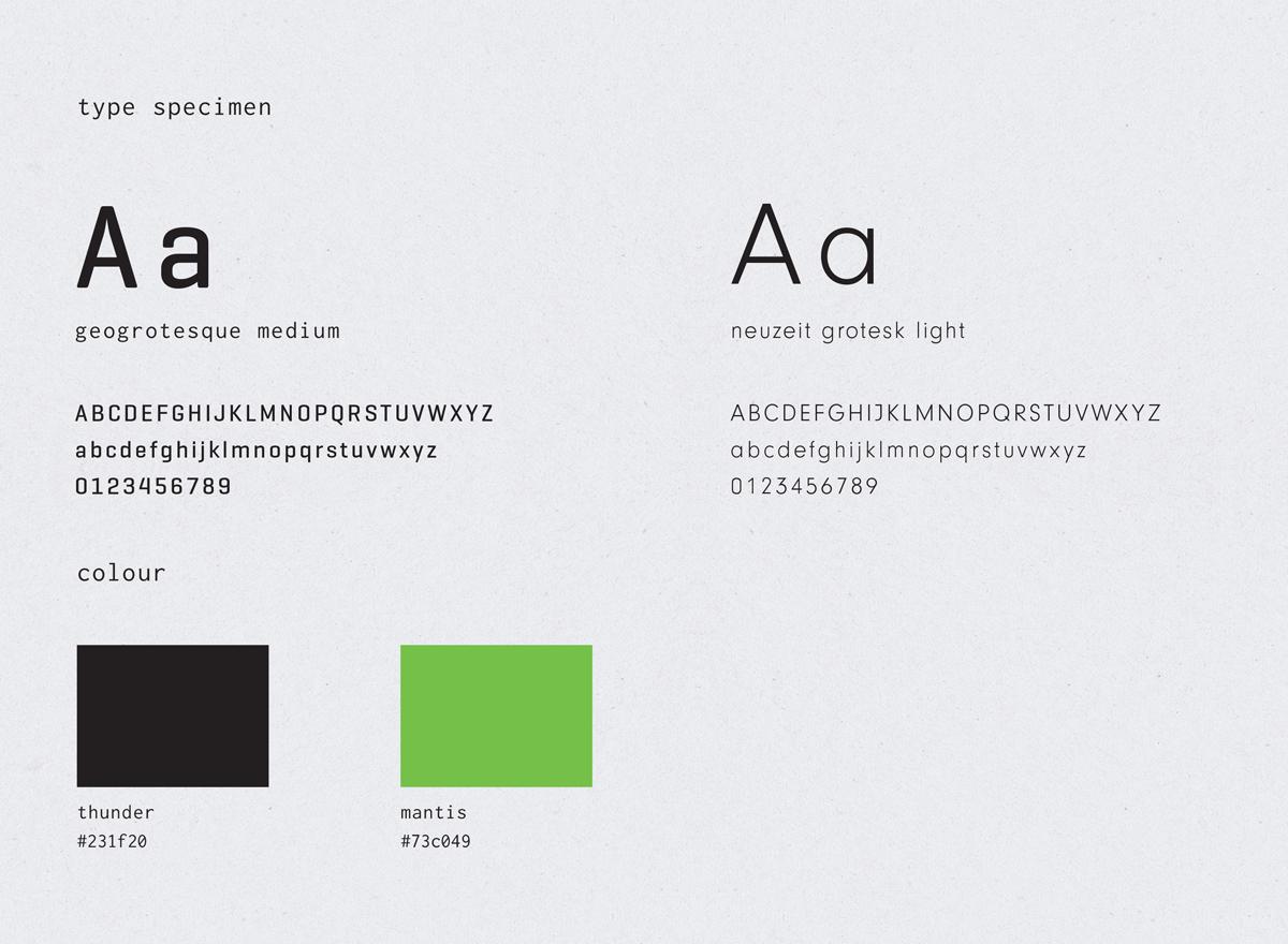 Siblings Creative Design Studio Botatech Typeface & Colour Scheme