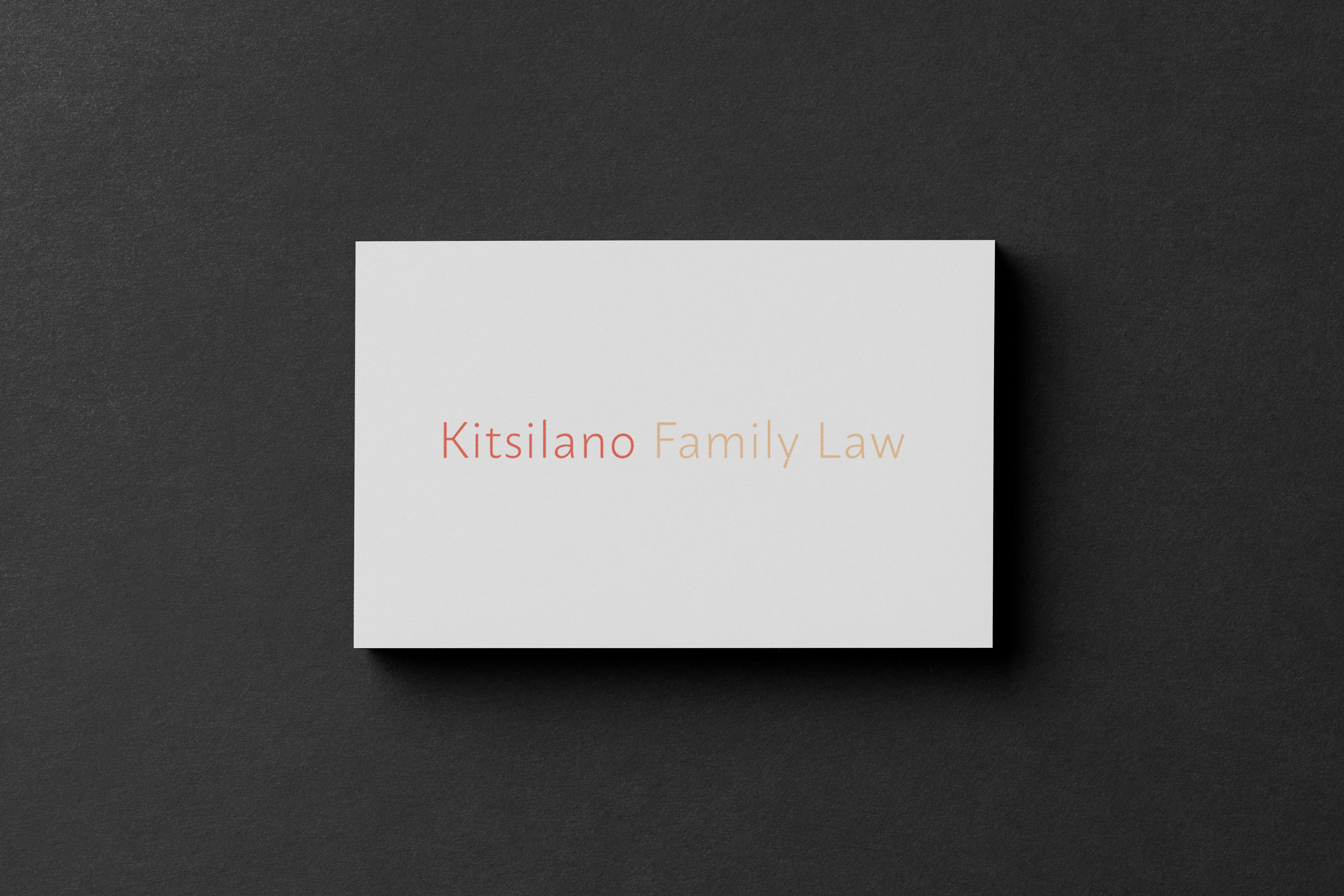Siblings Creative Design Studio Kitsilano Family Law Business Card Front