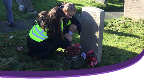 Young Leaders Remember Heroes on Remembrance Day