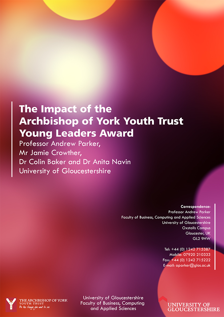 COVER: The Impact of the Archbishop of York Youth Trust Young Leaders Award