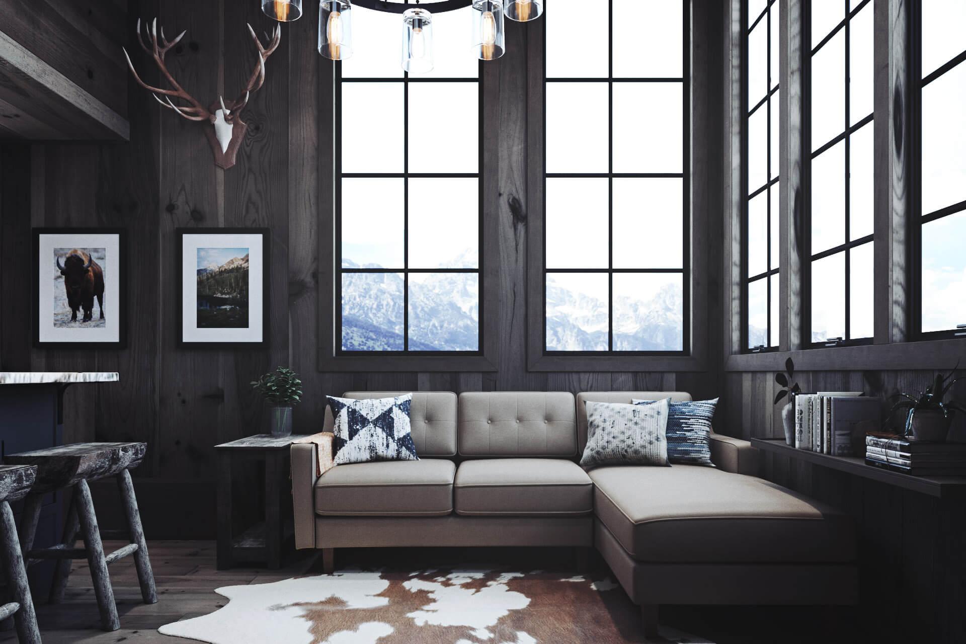The Haven Living Room in Dark