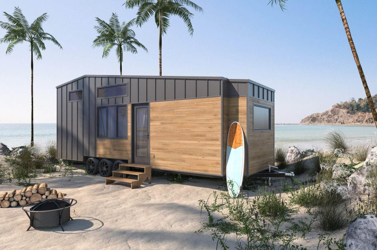 Tiny House parked near a beach
