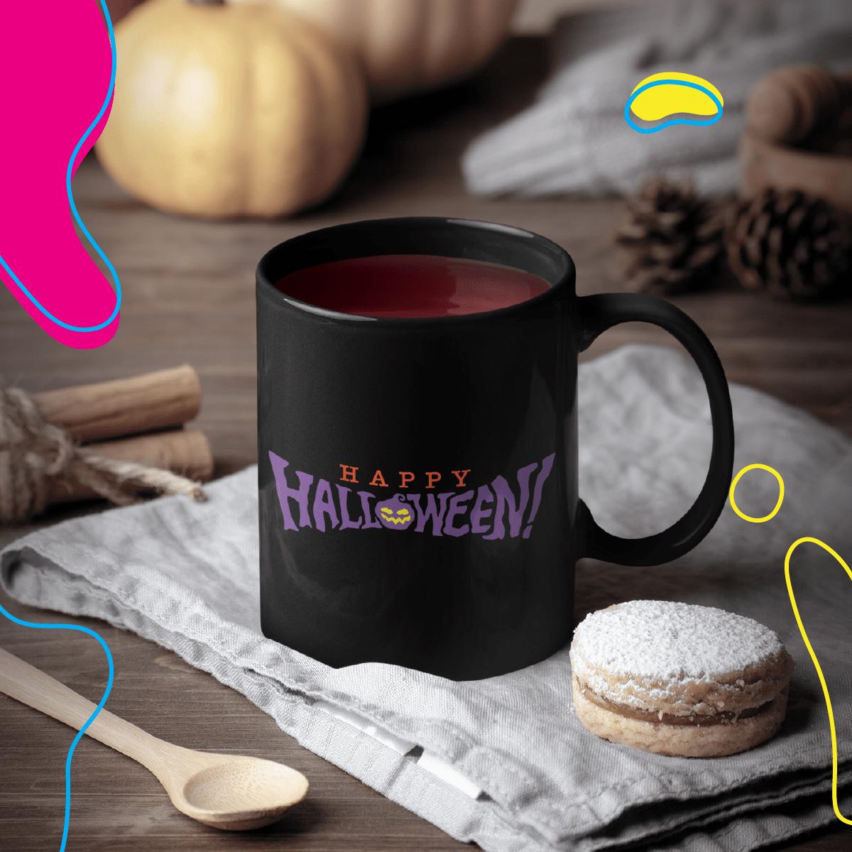 Print-on-demand mug with Halloween design