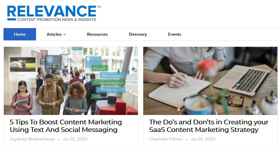Relevance Content Marketing Blog