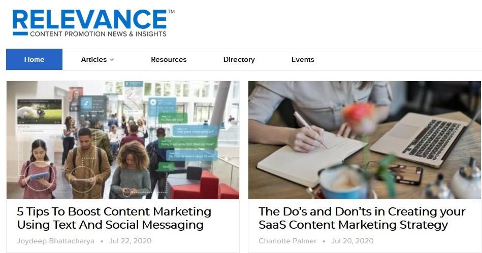 Relevance Content Marketing Blog
