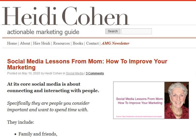 Heidi Cohen Content Marketing Blog