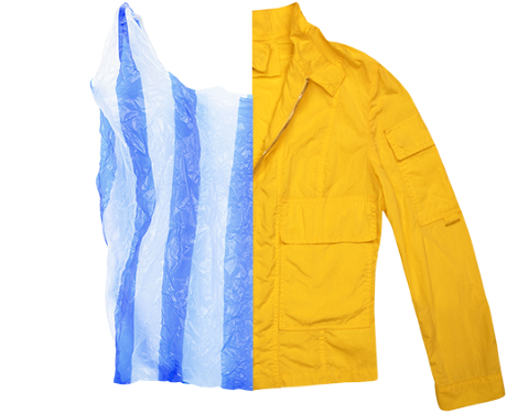 Plastic bag to wax jacket