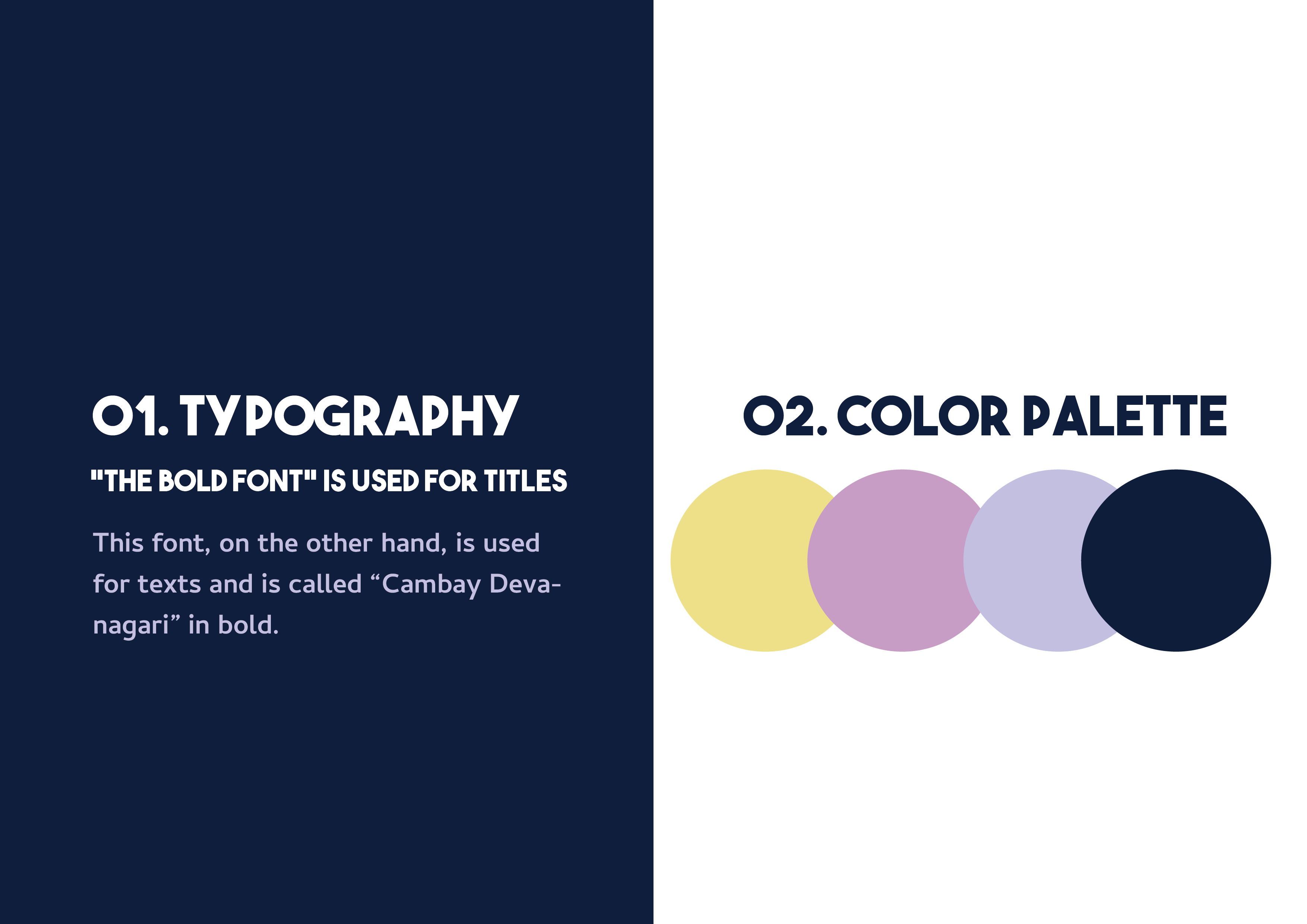 Typography and colors