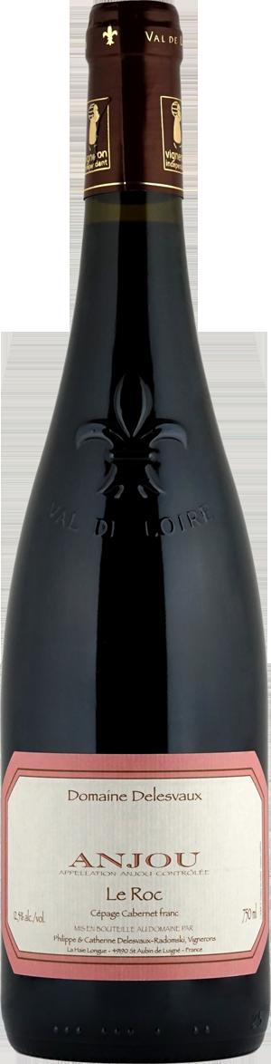 """Domaine Delesvaux: Anjou rouge """"Le Roc"""" 2015"""