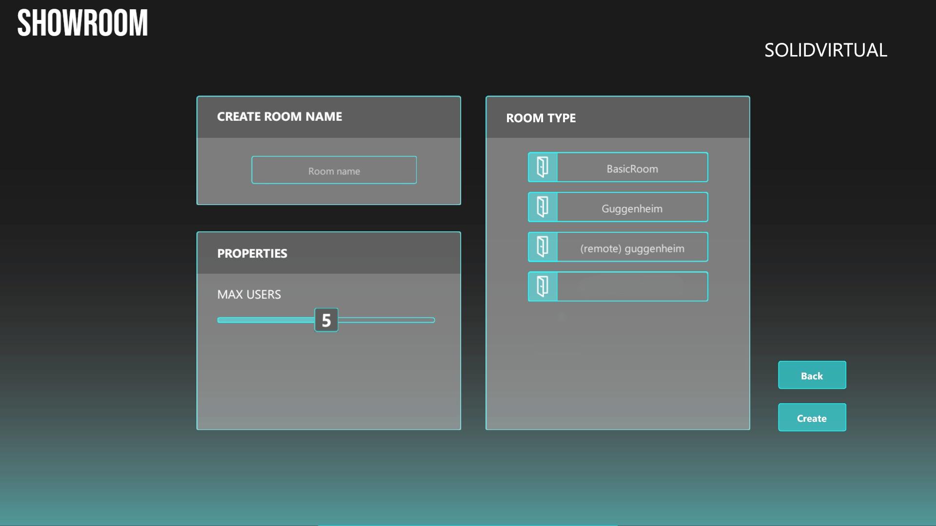 InnXR pantalla de acceso