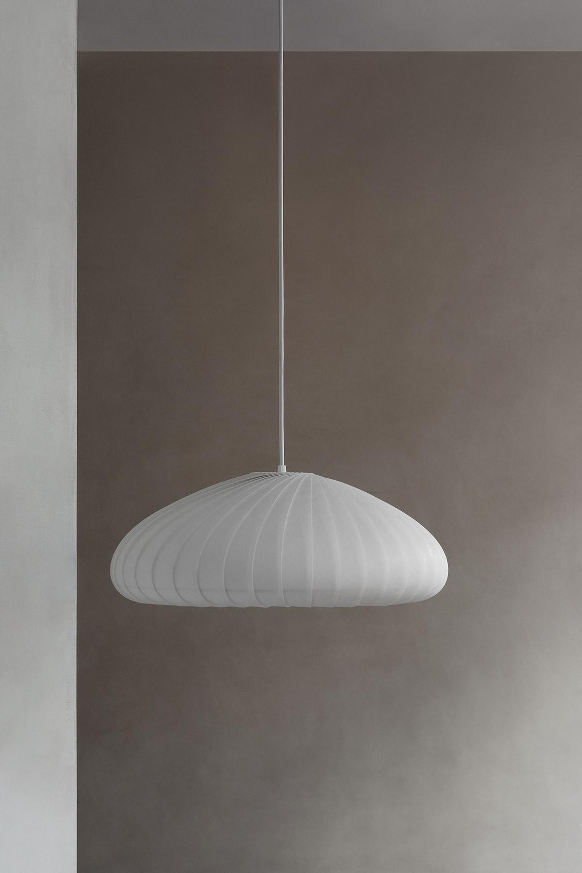 TR28 white pendant light by Tom Rossau