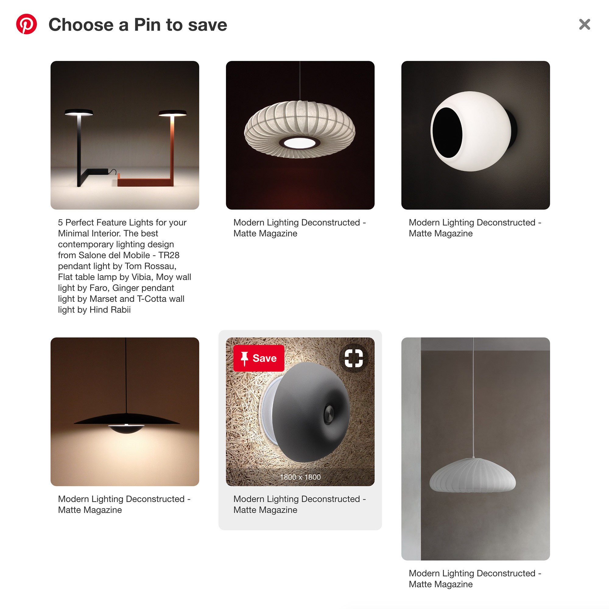 Pinterest screenshot showing how to use the browser button