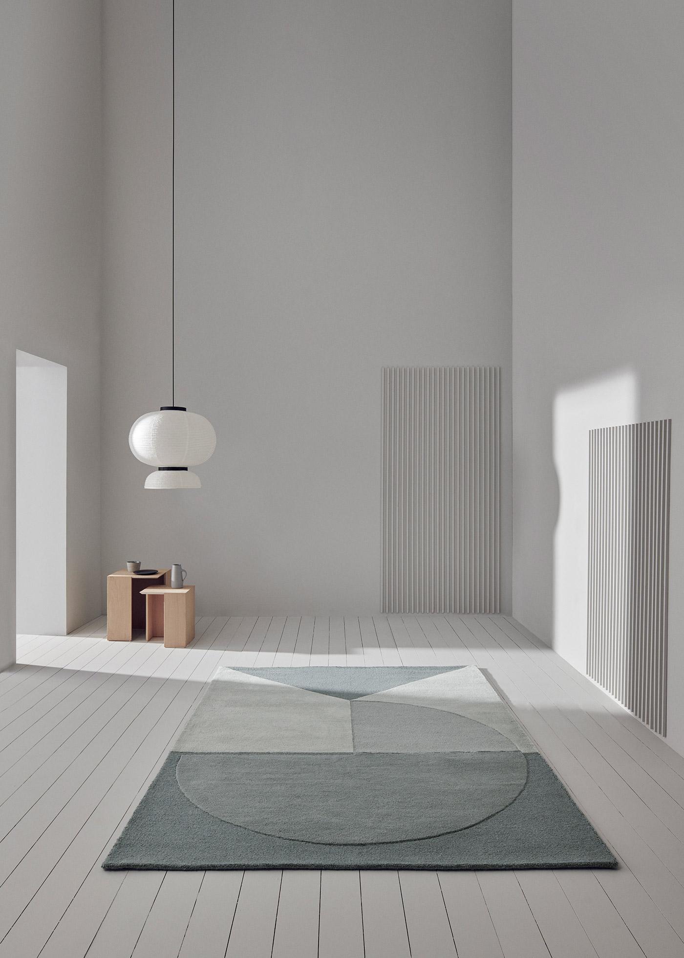 Satomi rug in aqua by Linie Design