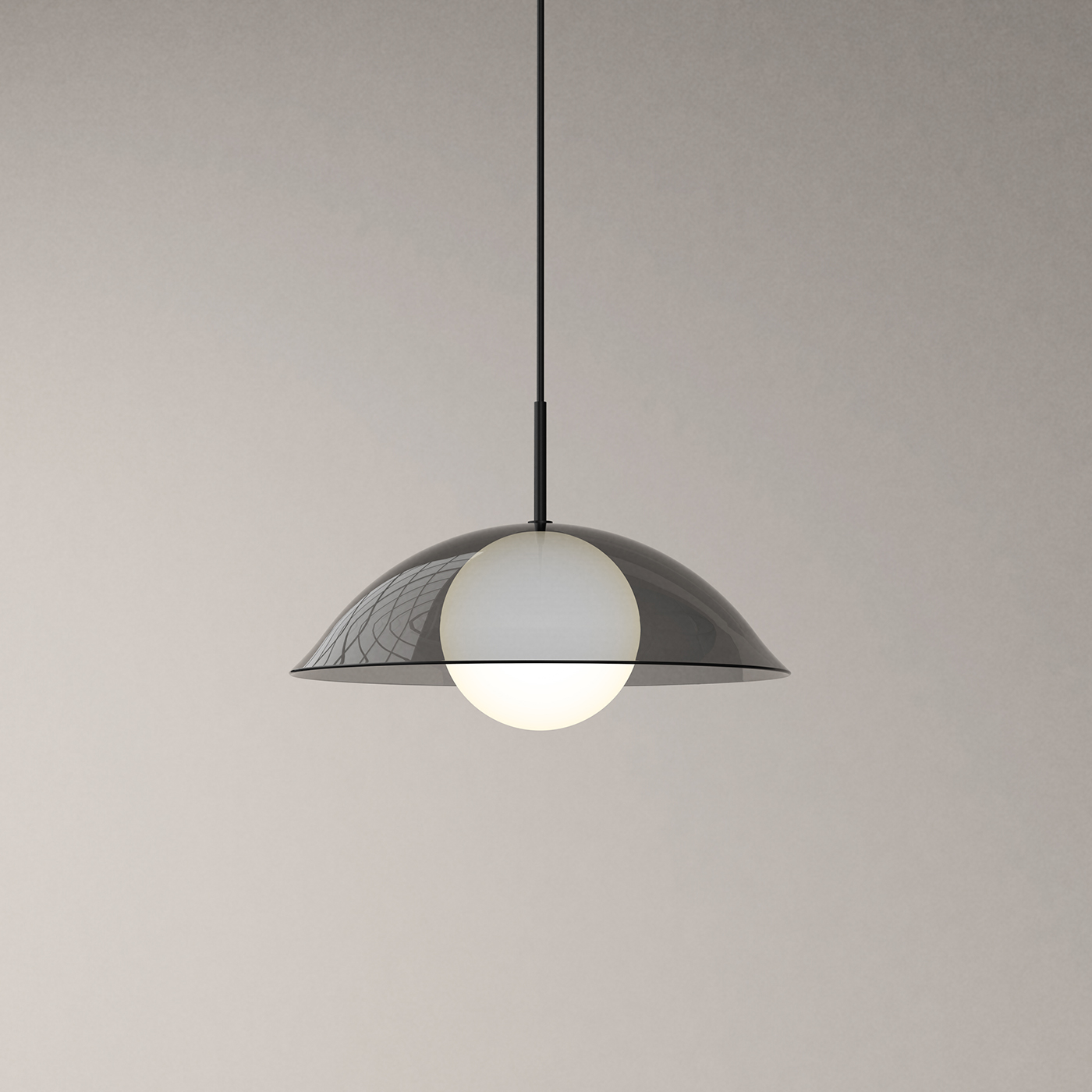 Pearl black pendant lamp by Karakter