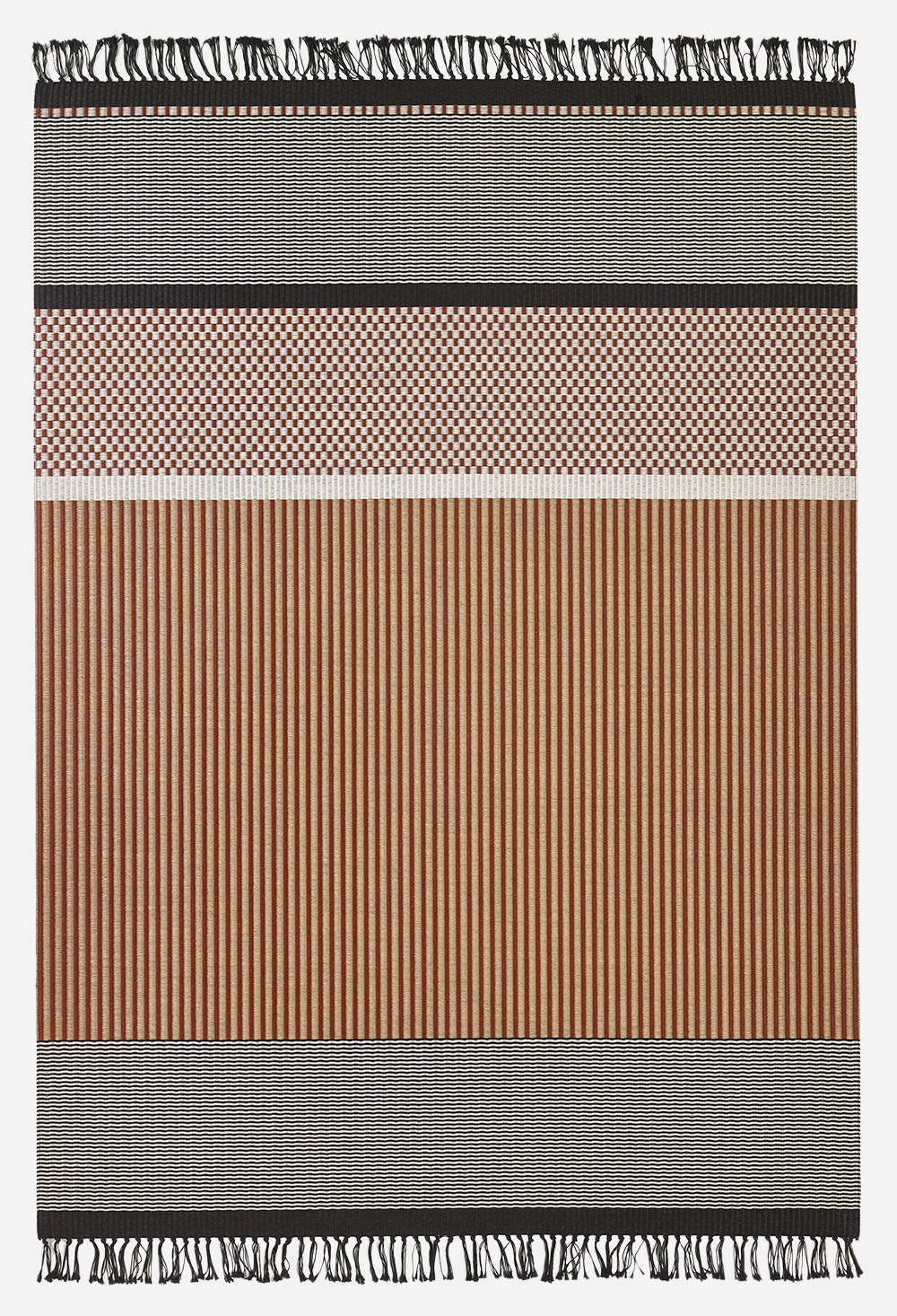 San Francisco carpet in tan, stone and black by Woodnotes